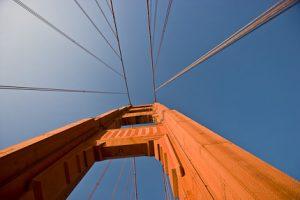 golden gate bridge - lines in composition