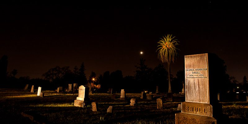 Cemetery Light Painting